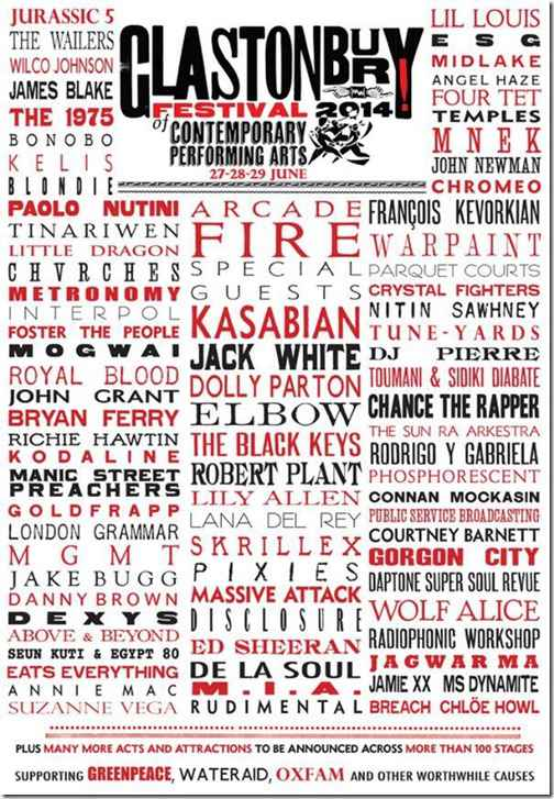 Фестиваль «Гластонбери 2014» объявил лайн-ап